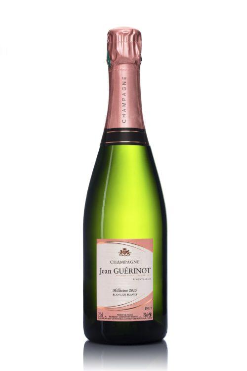 Bouteille de champagne Jean Guerinot Millésimé 2015 blanc de blancs